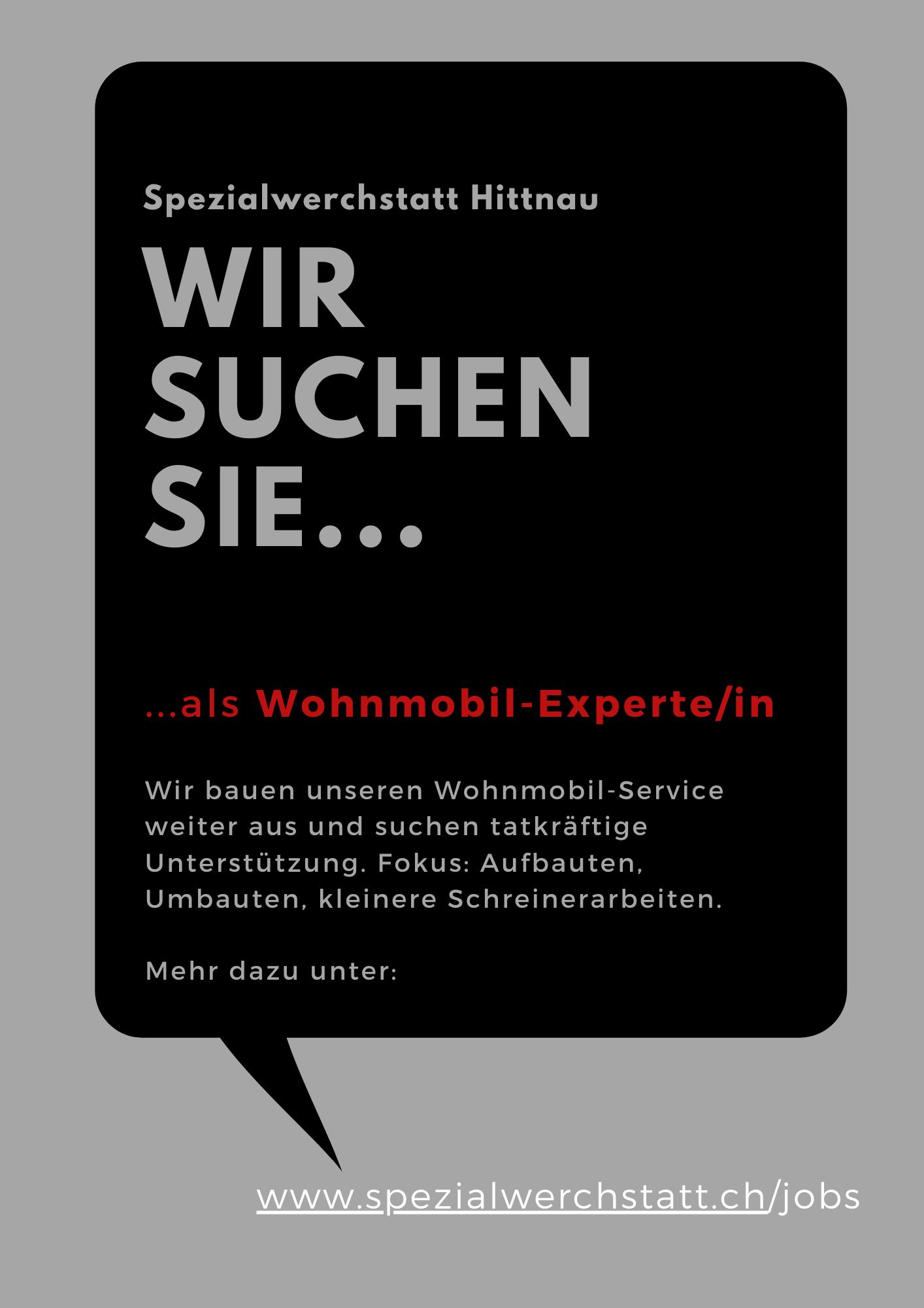 Job Autowerkstatt Wohnmobile Zürcher Oberland